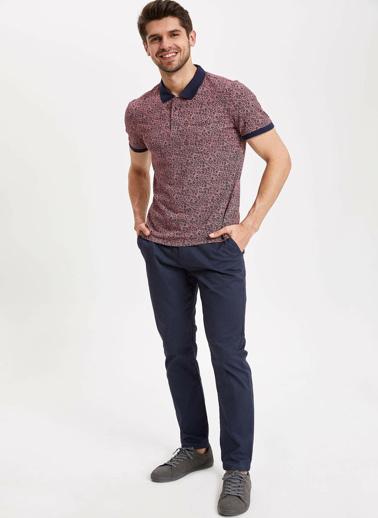 DeFacto Slim Fit Polo T-shirt Bordo